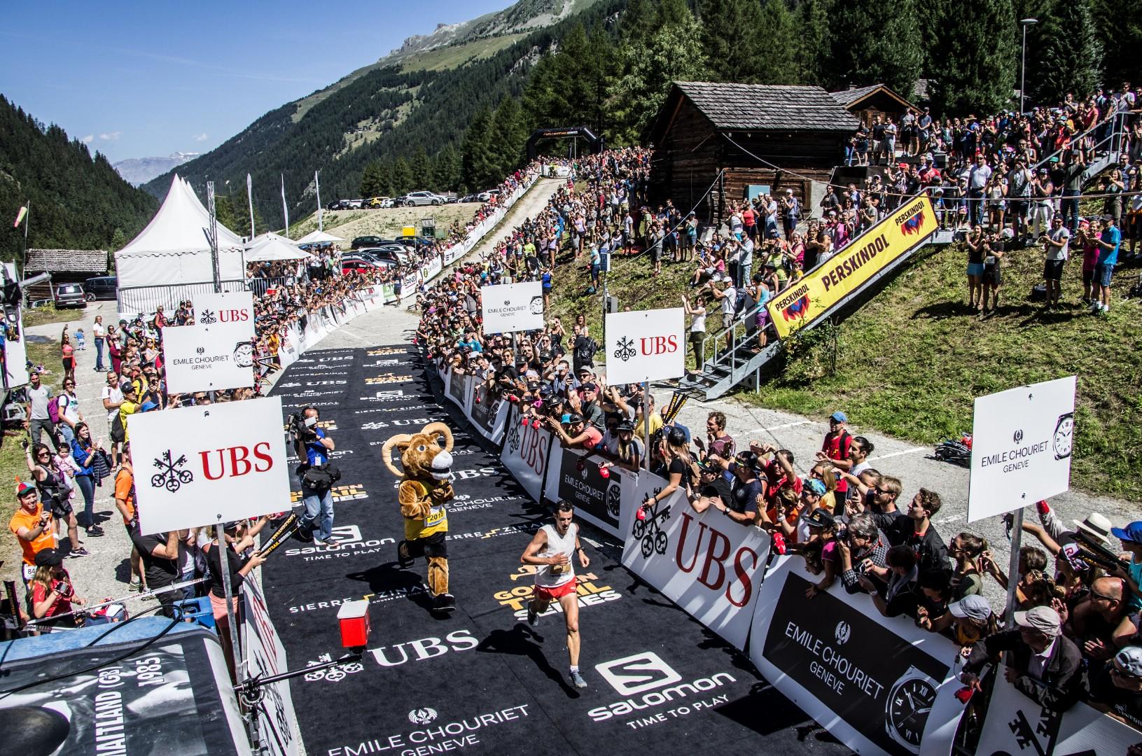 Kilian Jornet winning last year's race (credit: Val d'Anniviers Tourism)