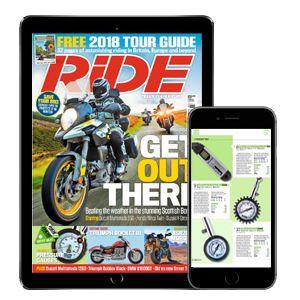 RiDE is available as a digital edition on your tablet or phone