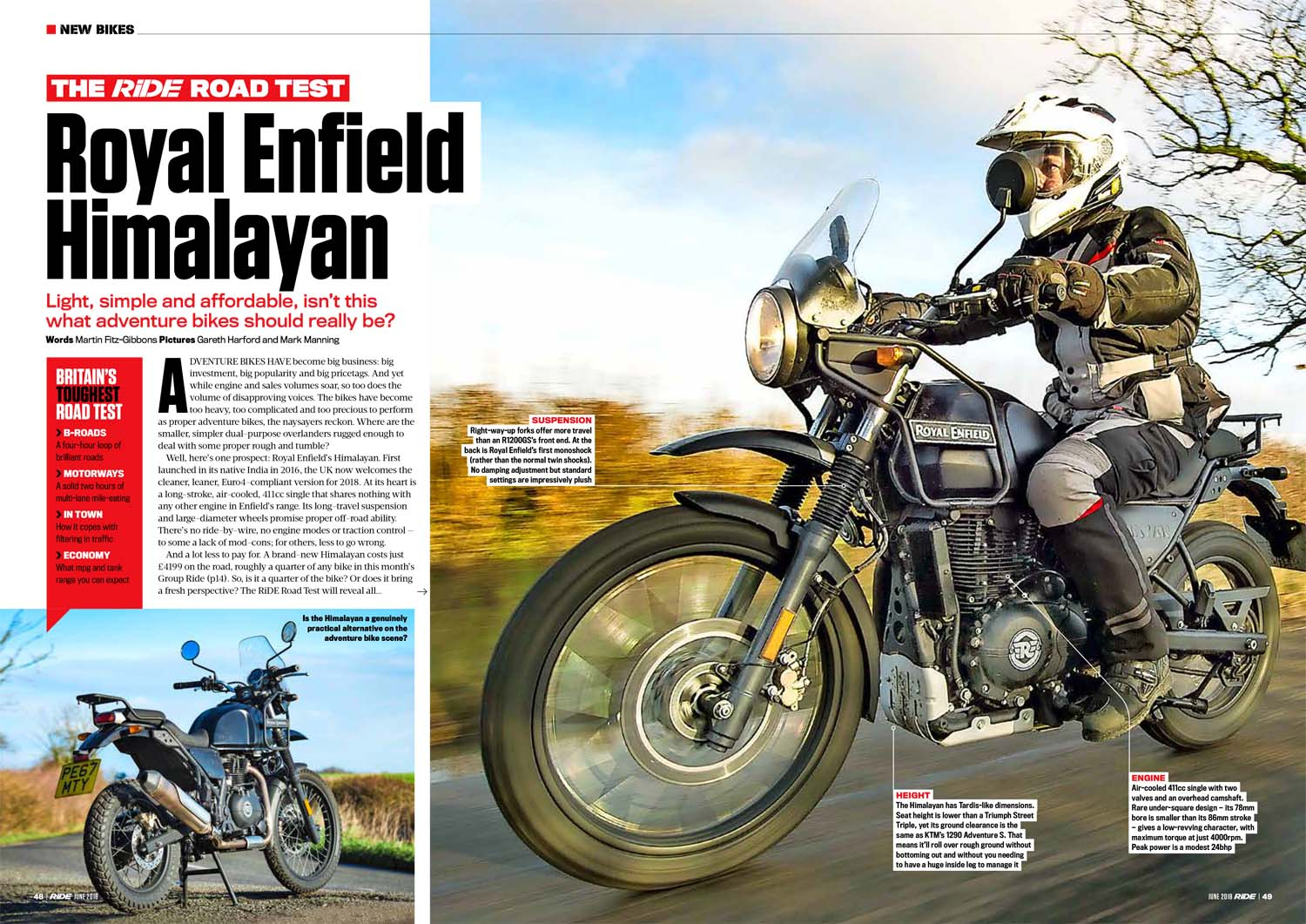 RiDE Road Test Enfield Himalayan