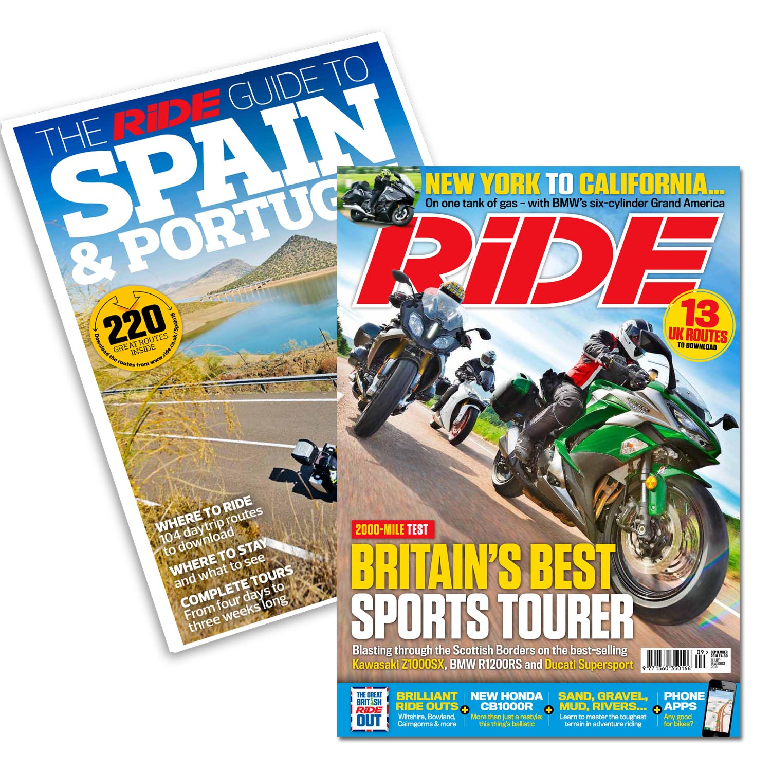 RiDE September issue has a free RiDE Guide to Spain and Portugal
