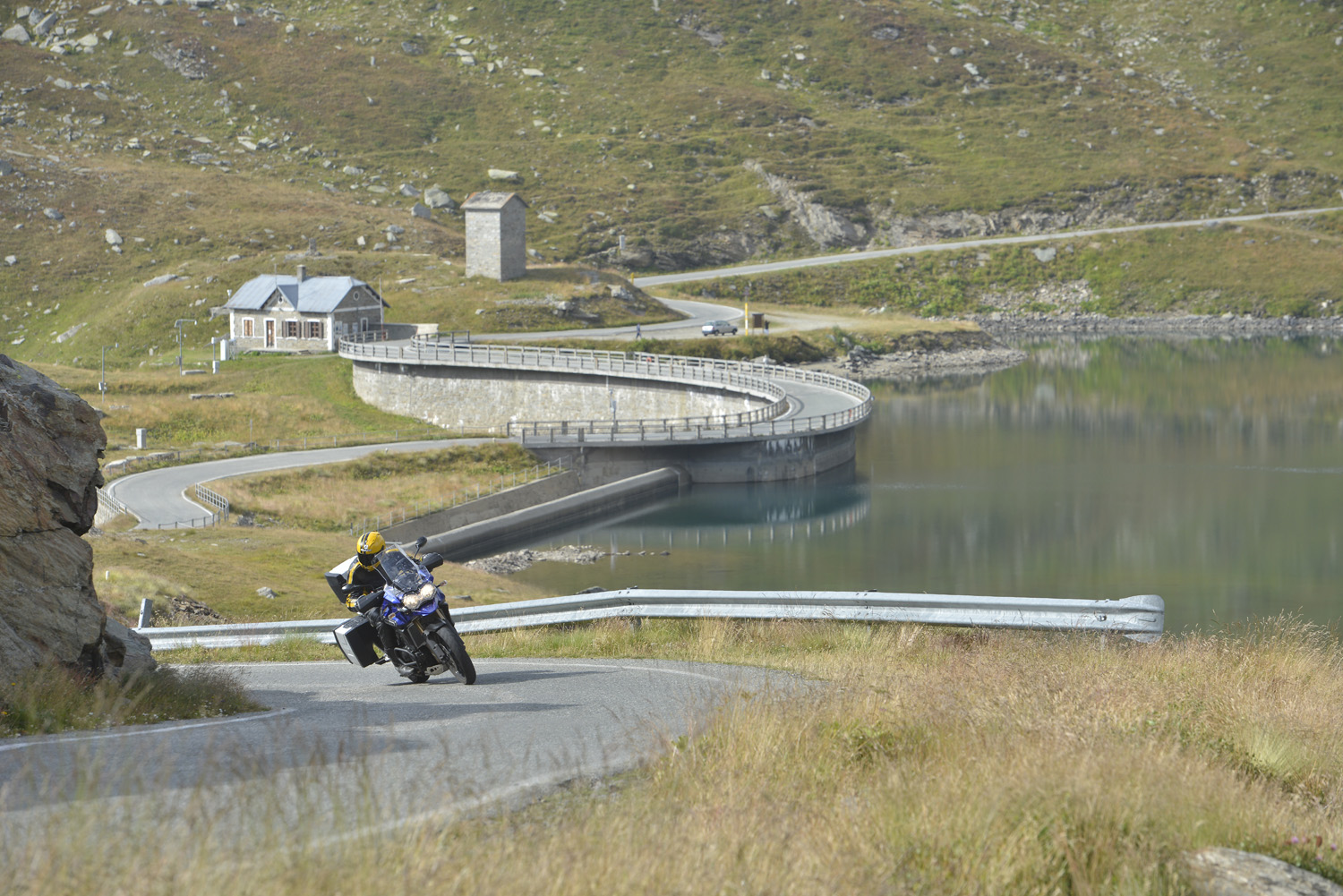 Colle del Nivolet has lakes, hairpins and virtually no traffic. It's amazing.