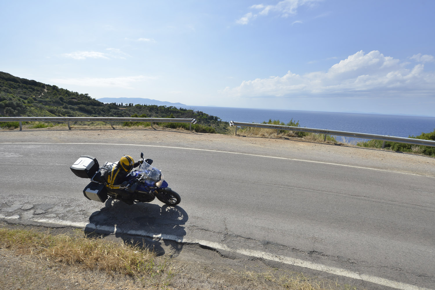 The panoramic road around Monte Argentario sets the tone for the riding on the Tuscan coast