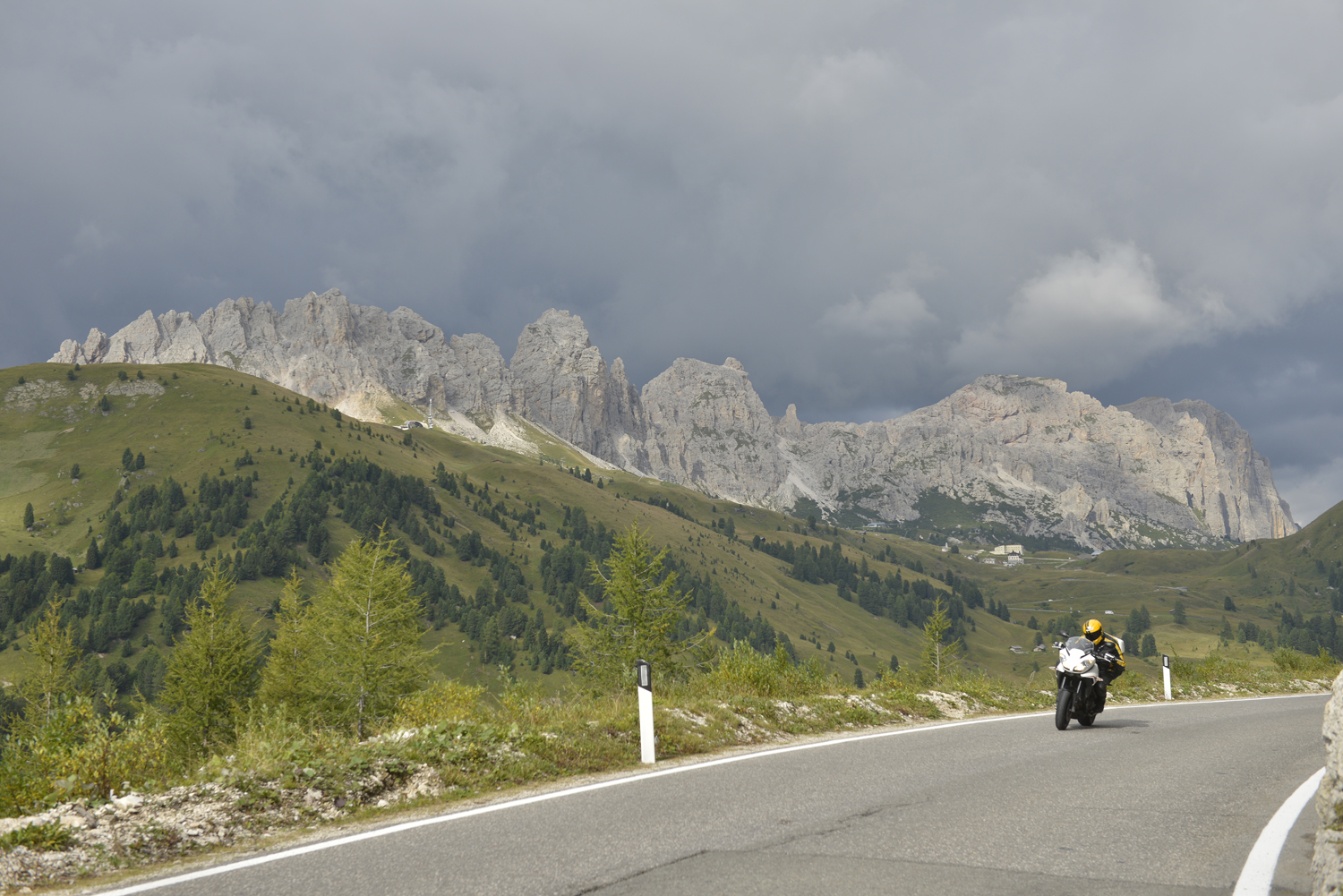The Dolomites: just about the most scenic place to ride a bike. This is Passo Gardena
