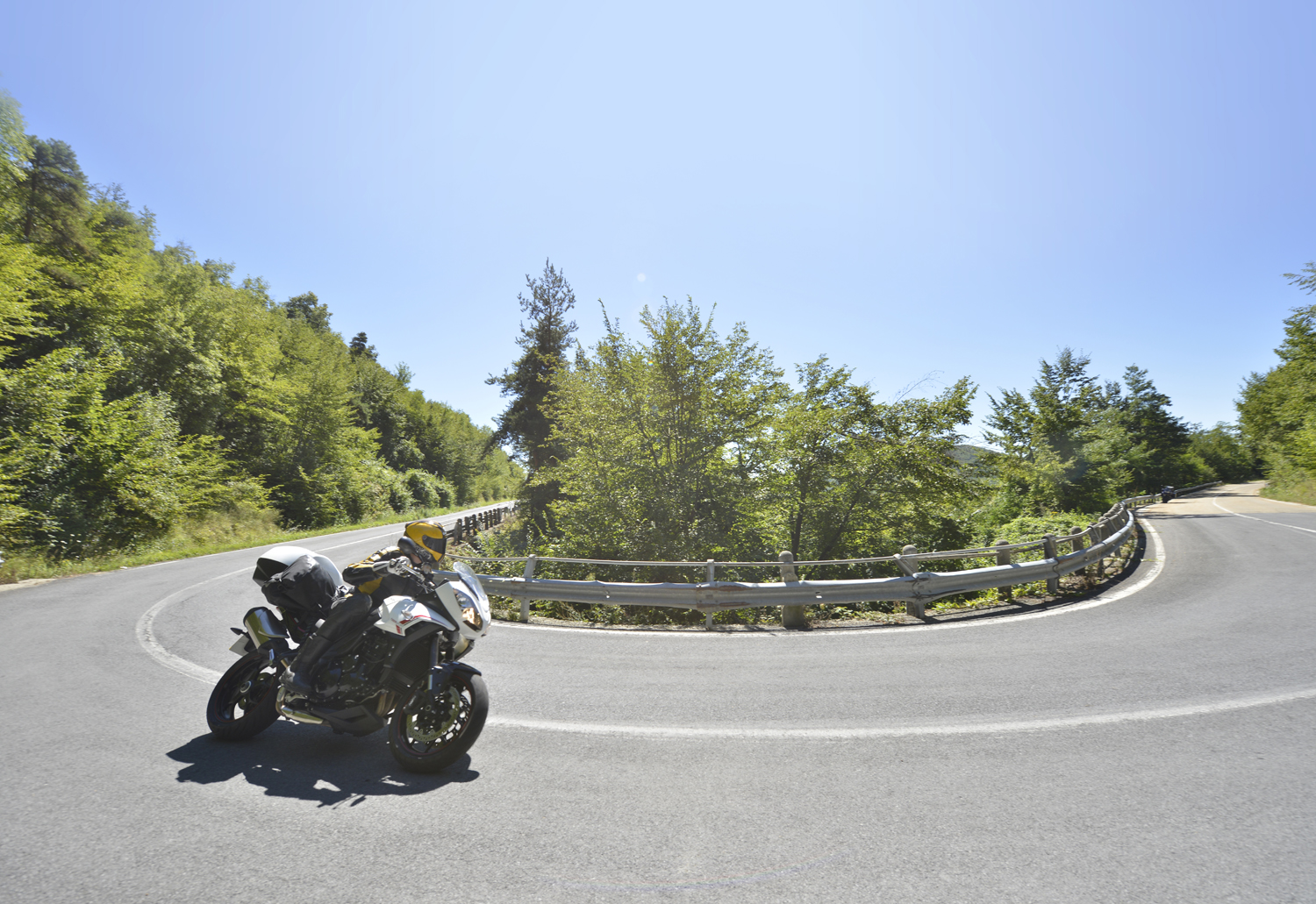 Miles of empty roads baked by the fierce sun of Calabria
