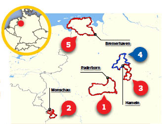 North-west Germany motorcycle routes