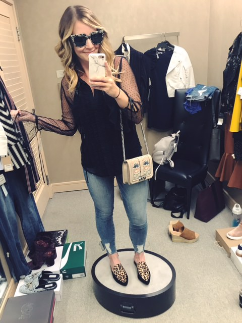 good american denim (size down one size)   |   halogen blouse   |   halogen shoes   |   bp cami   |   rebecca minkoff handbag   |   sonix sunglasses