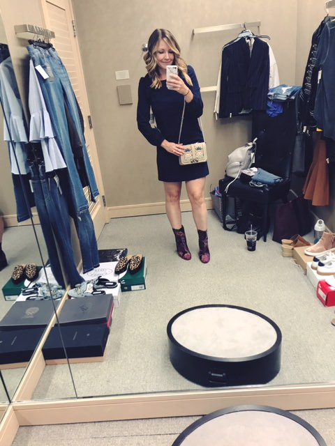 chelsea 28 shift dress   |   steve madden floral bootie   |   rebecca minkoff bag