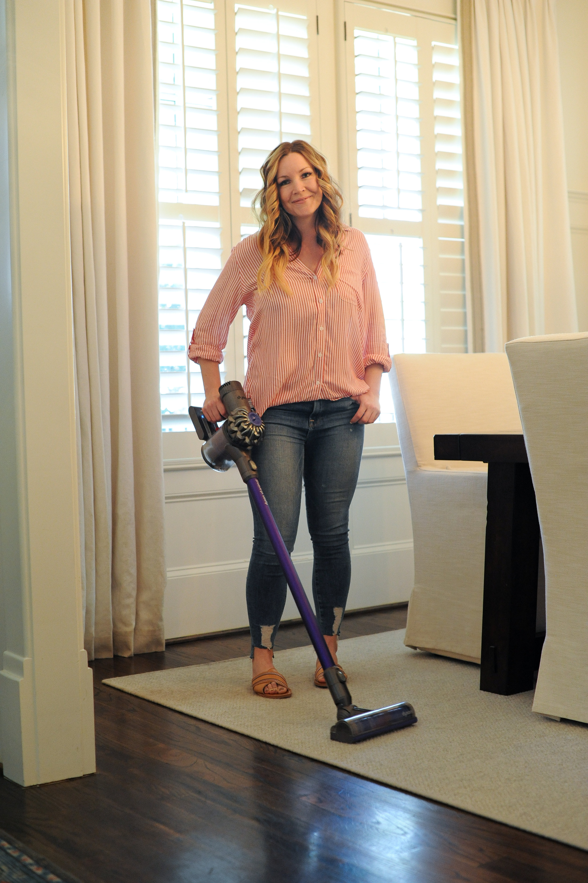 striped top    |    good american denim    |    target sandals    |    dyson cordless vacuum    (OTHERWISE KNOWN AS MY SOULMATE) |    photos by jnelly photography