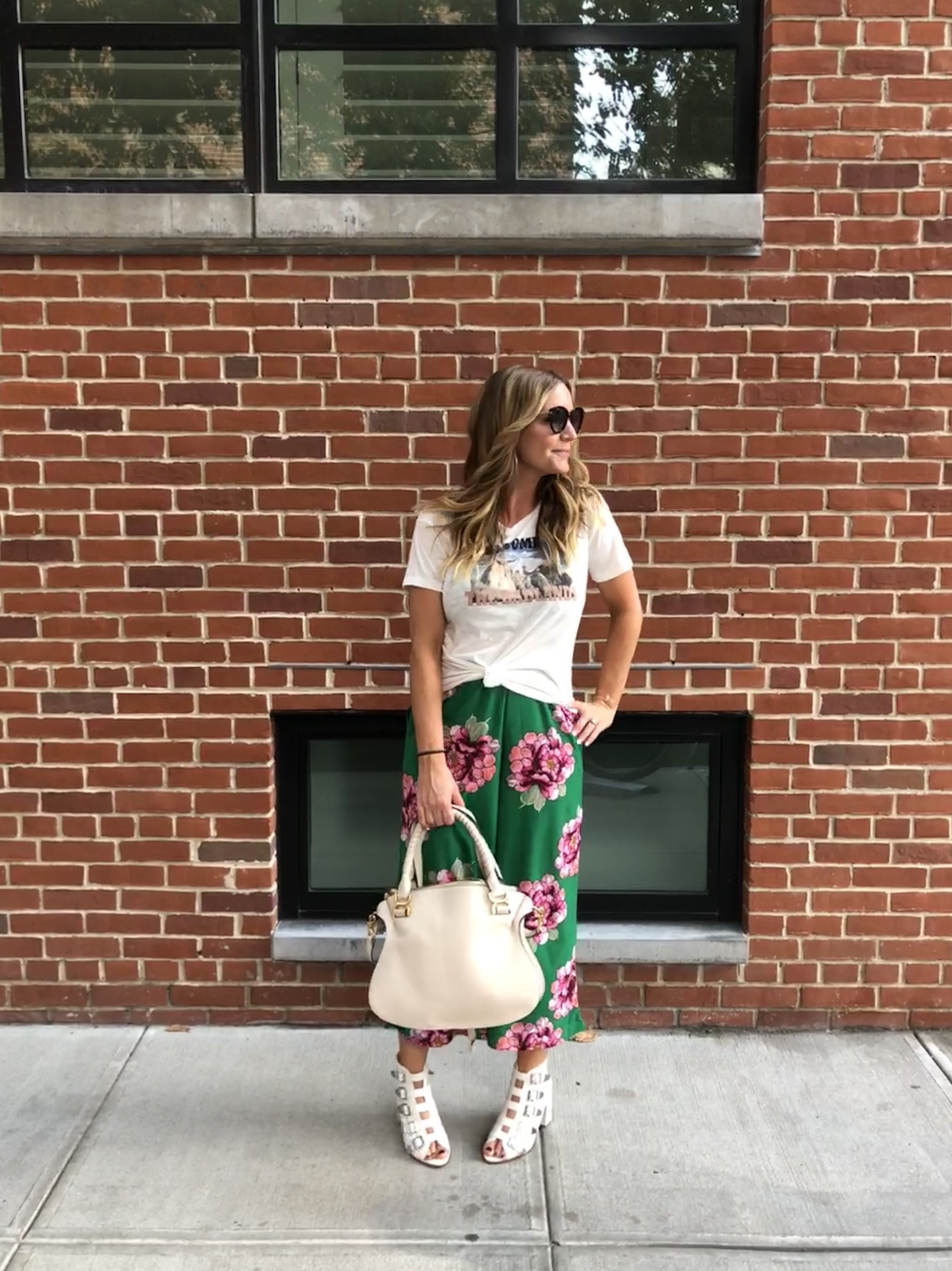 ASOS shoes    (all-time fave list for sure!) |    ASOS floral culottes    (   similar here)    |    madewell tee    |    tom ford sunnies