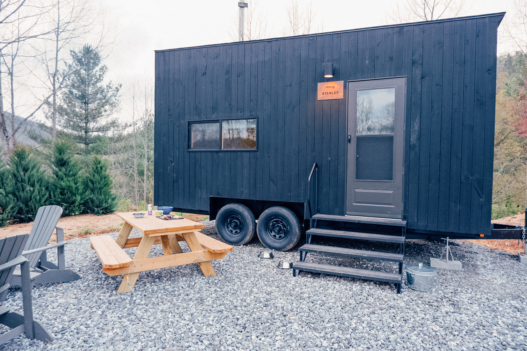 our tiny home for the weekend