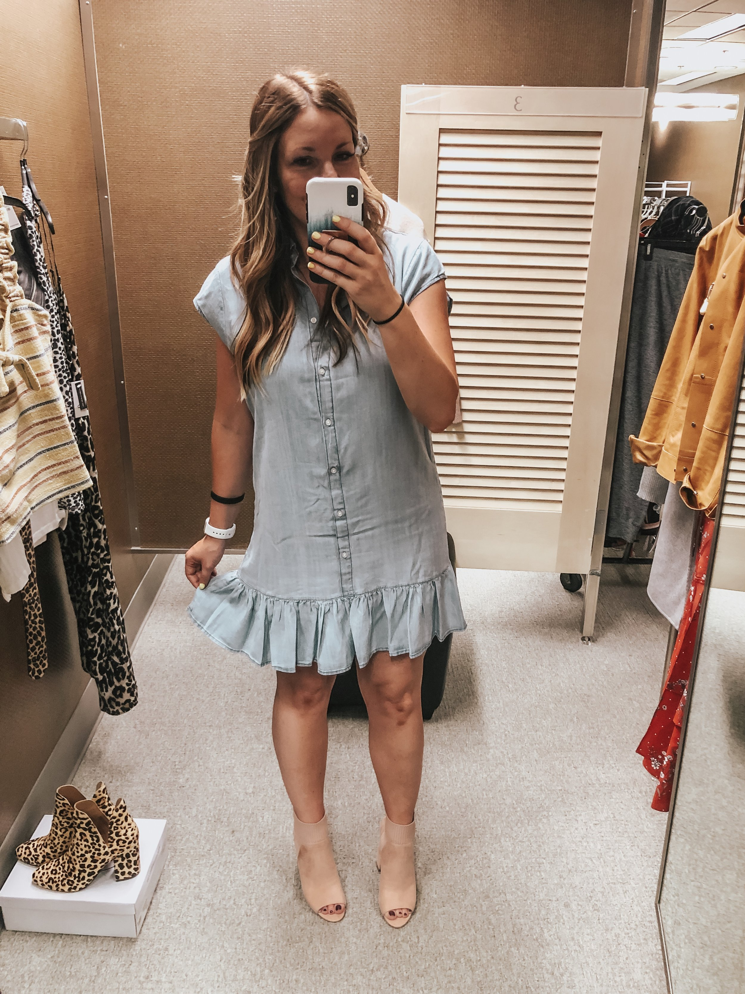 BB Dakota Chambray Shirt Dress