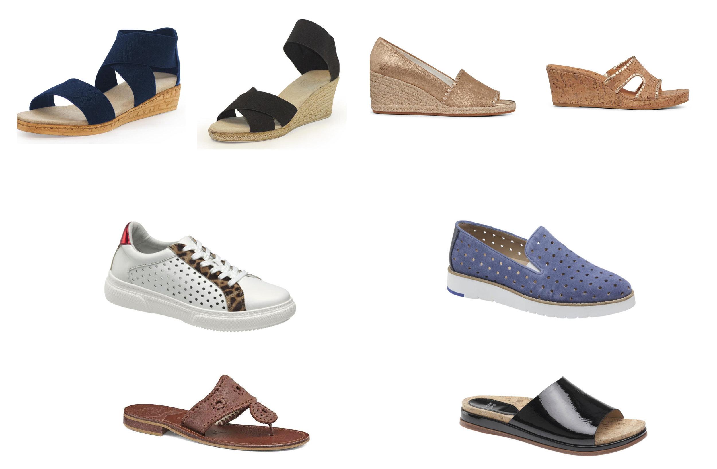Top Row: Charleston Shoe Company, Jack Rogers   Middle Row: Johnston & Murphy   Bottom Row: Jack Rogers, Johnston & Murphy