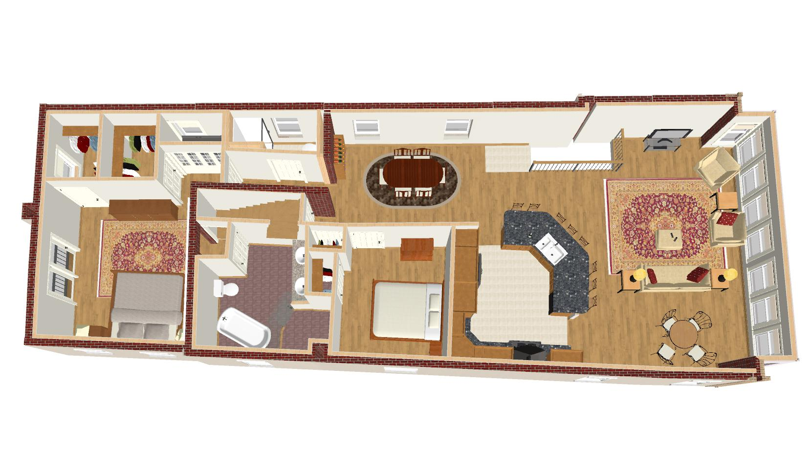 (FLOOR PLAN OVERVIEW - 3D design model)