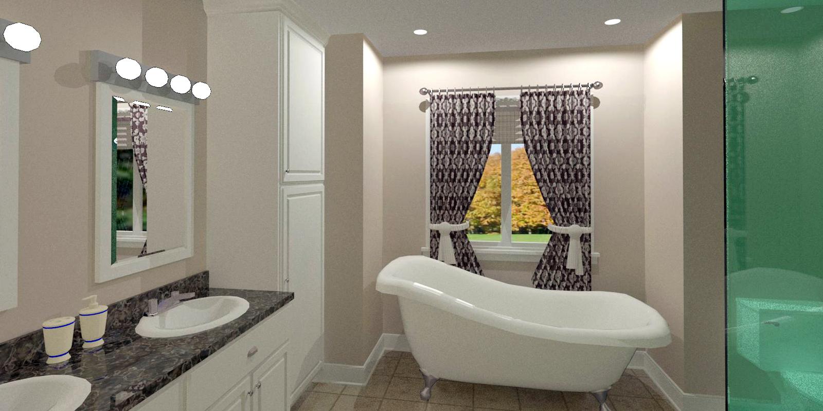 Interior Bathroom (3D design model)
