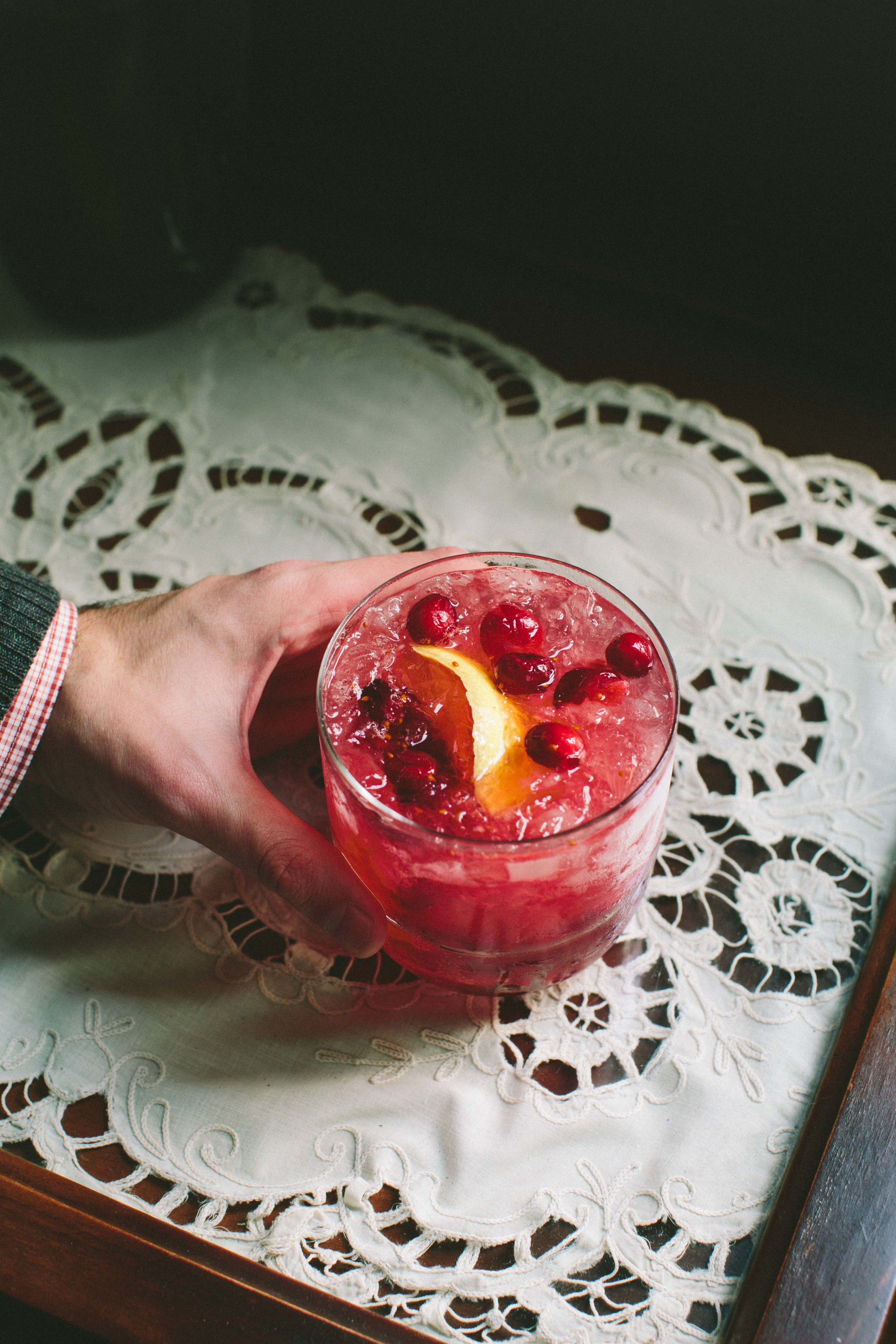 Cranberry Ginger Whiskey Smash | athoughtforfood.net @athoughtforfood