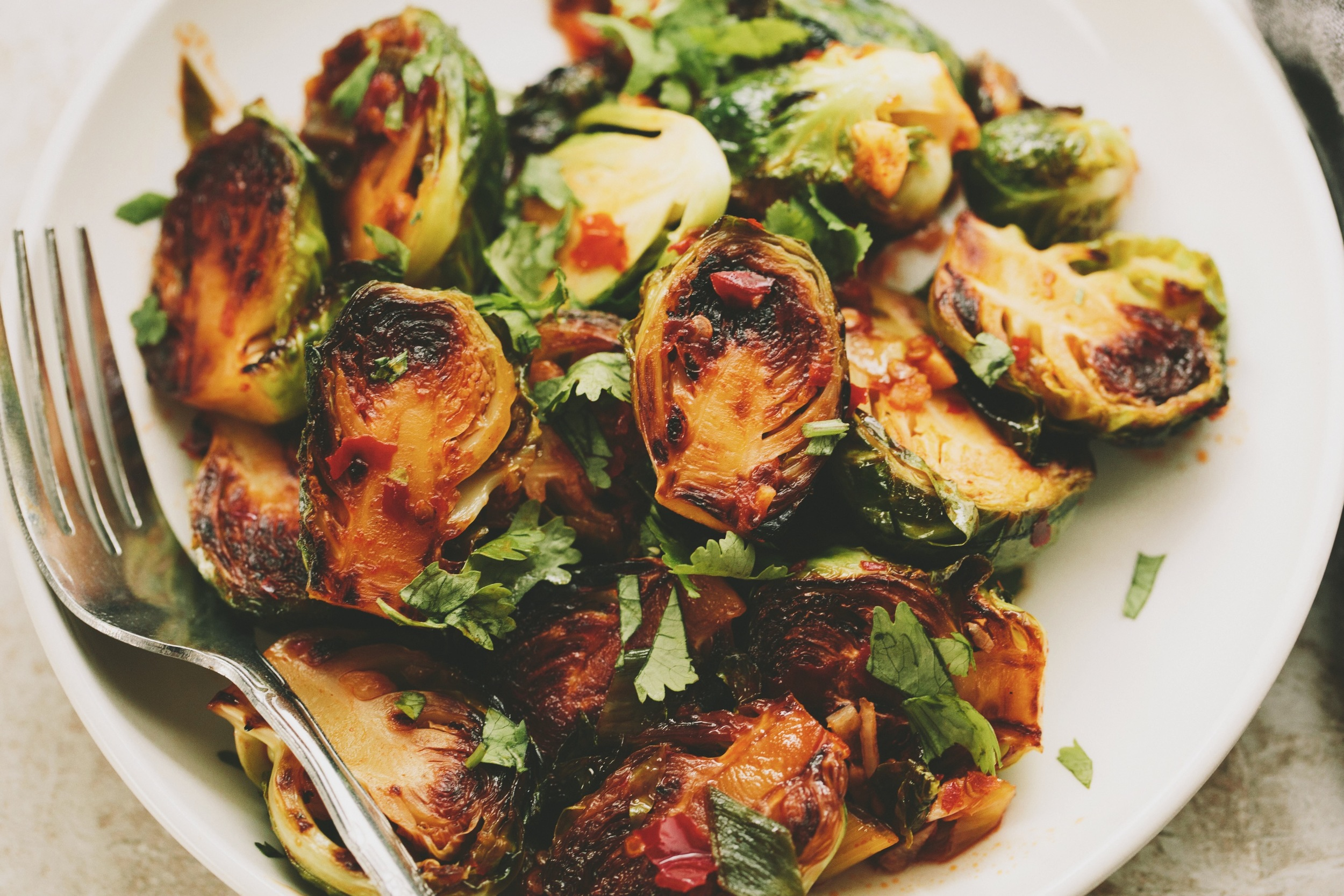 Thai Braised Brussels Sprouts | A Thought For Food