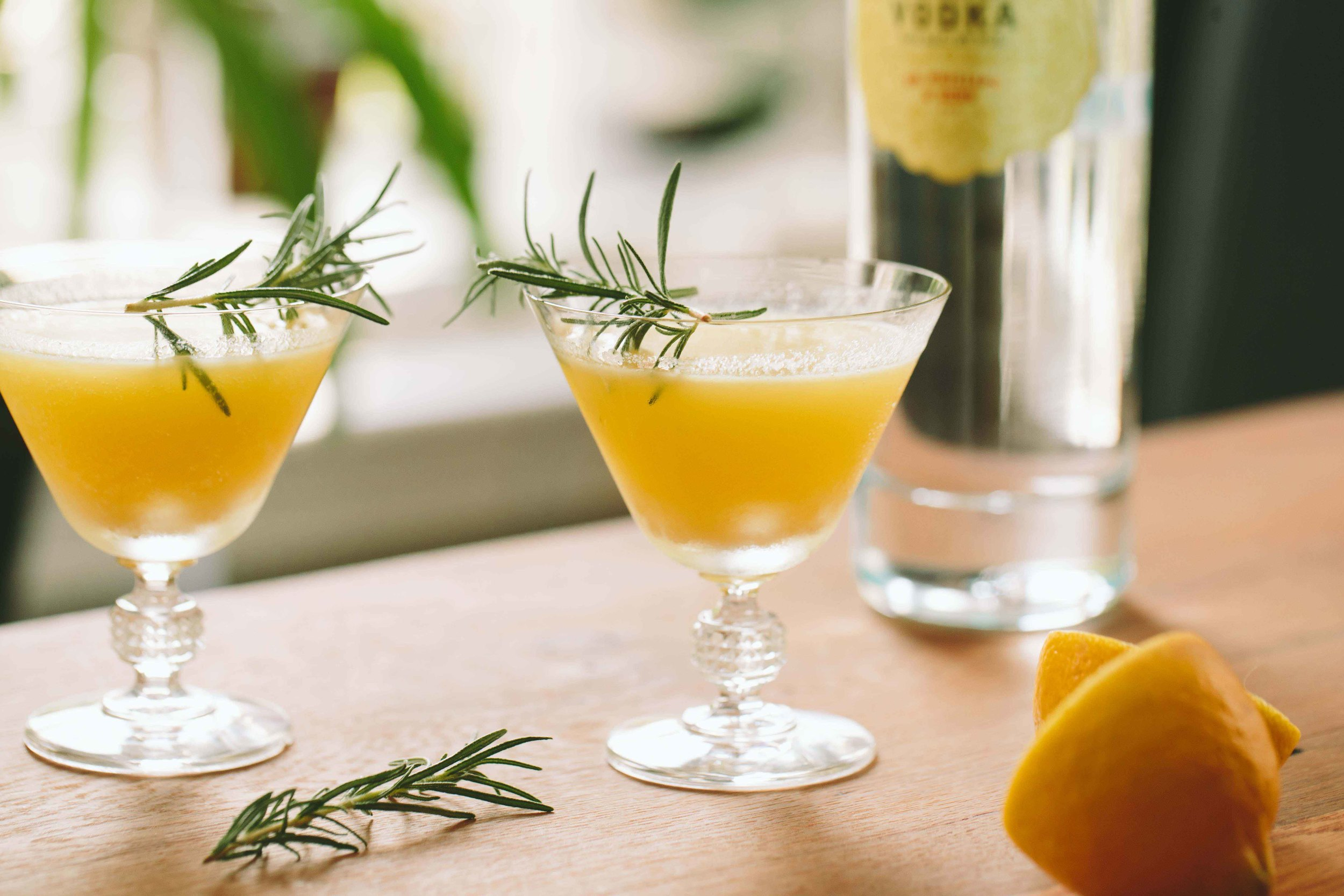 Golden Beet, Vodka, + Rosemary Cocktail | A Thought For Food