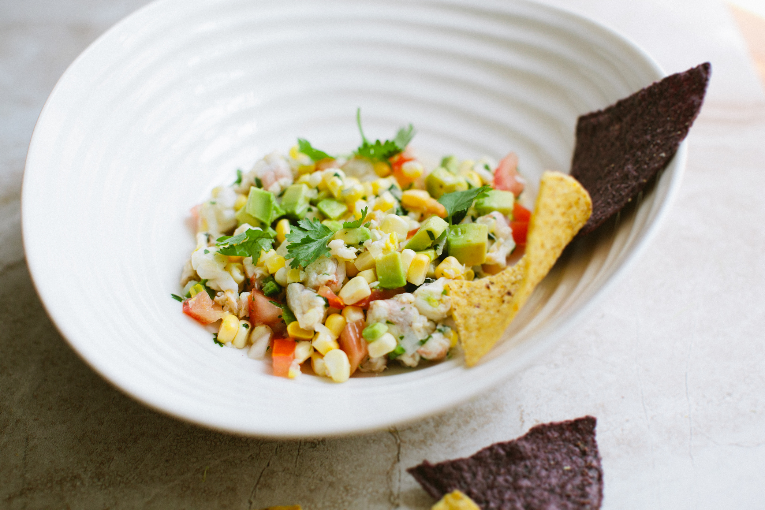 Shrimp + Sweet Corn Ceviche