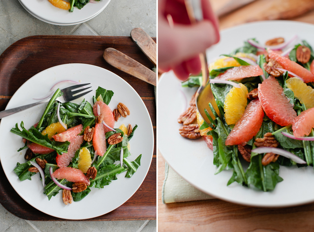 Dandelion Green and Citrus Salad // A Thought For Food
