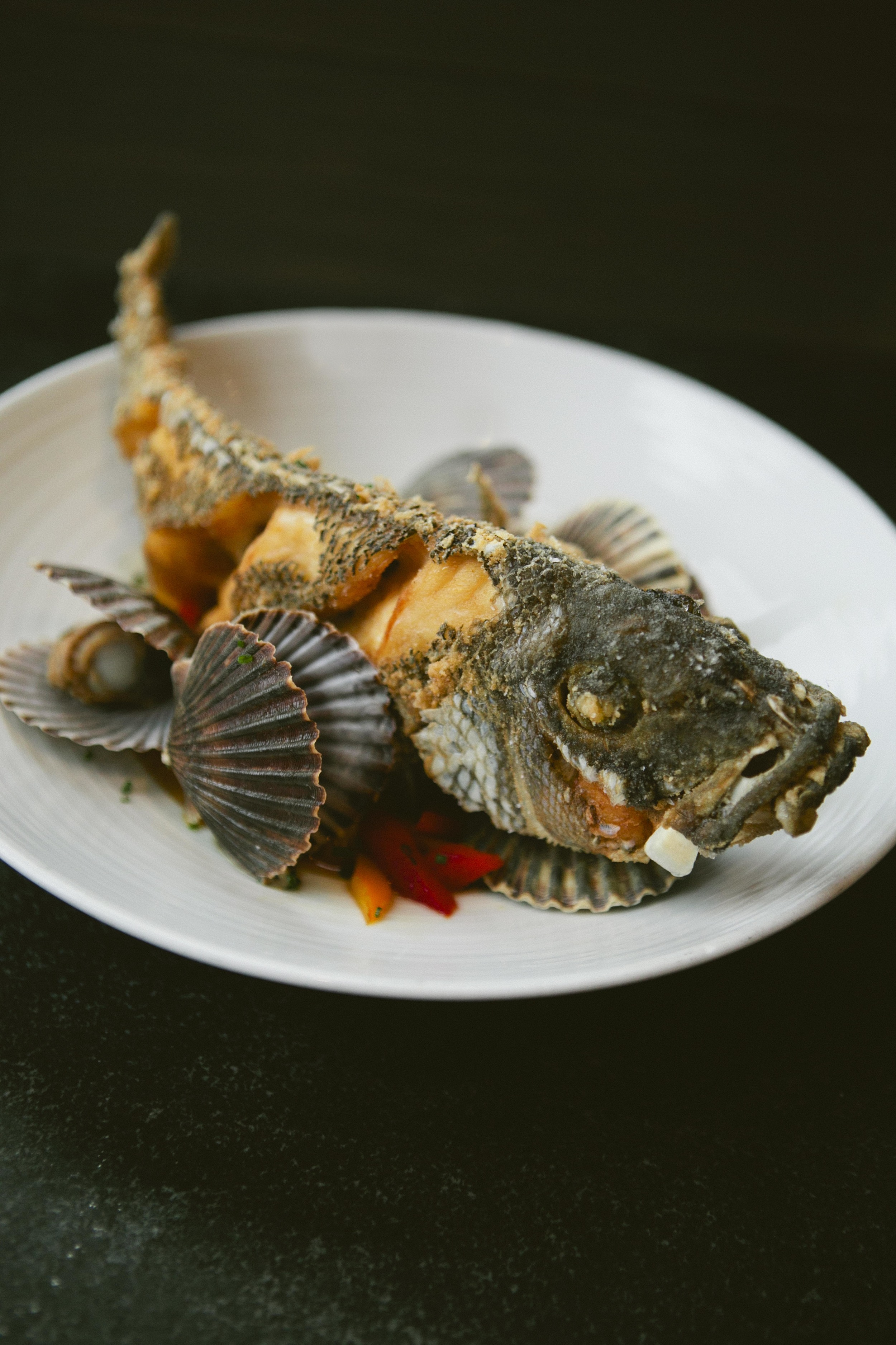 Roasted Whole Sea Bass from Jeremy Sewall of Island Creek Oyster Bar (Photograph by Brian Samuels)