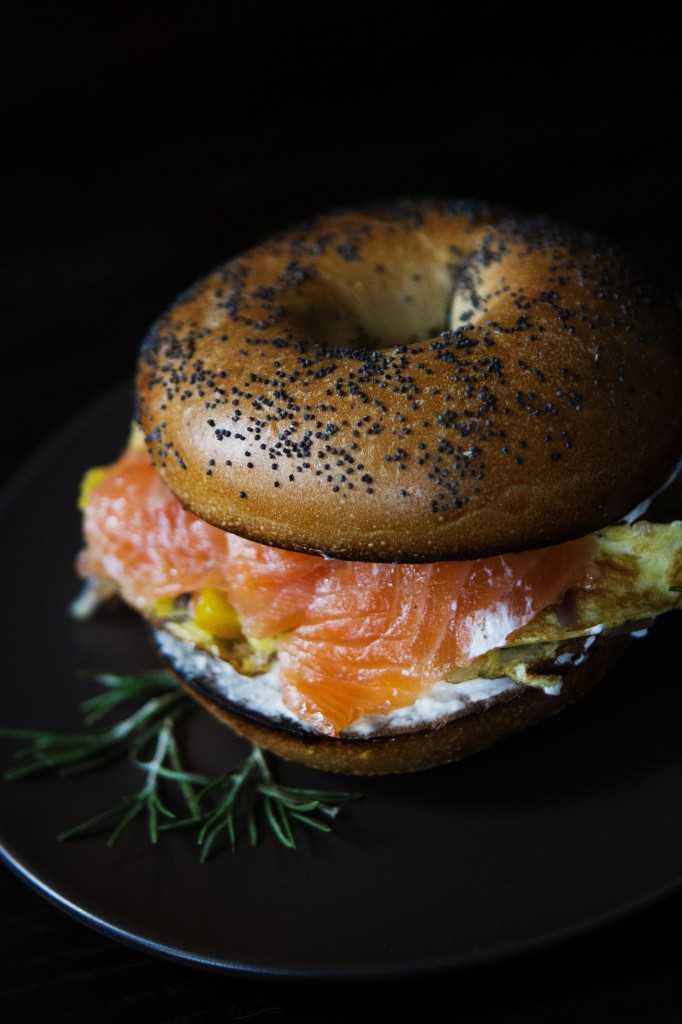 Smoked Salmon and Egg Breakfast Sandwich from A Thought For Food - www.athoughtforfood.net
