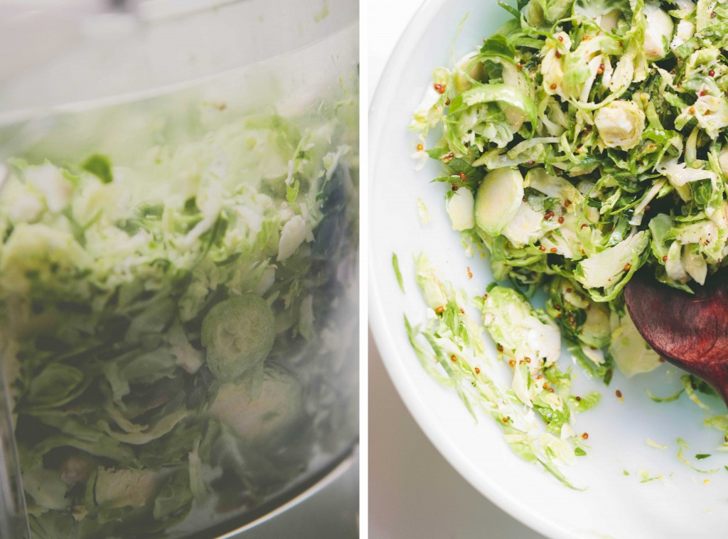 Shredded Brussels Sprouts with Walnuts from A Thought For Food #Thanksgiving #recipe