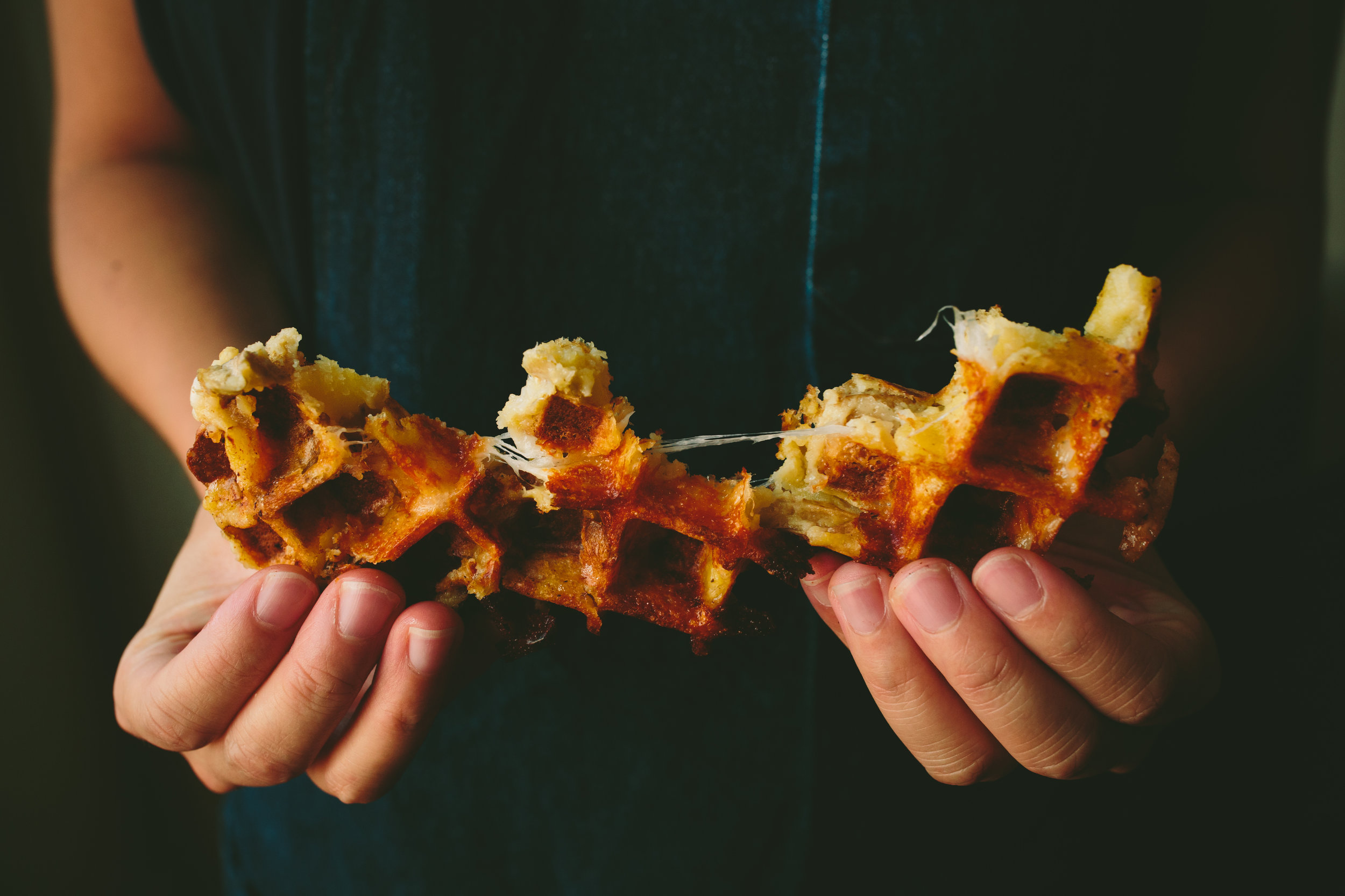 Smoky Cheese Wafflato from PAGU in Cambridge, MA - Photo by Brian Samuels of A Thought For Food