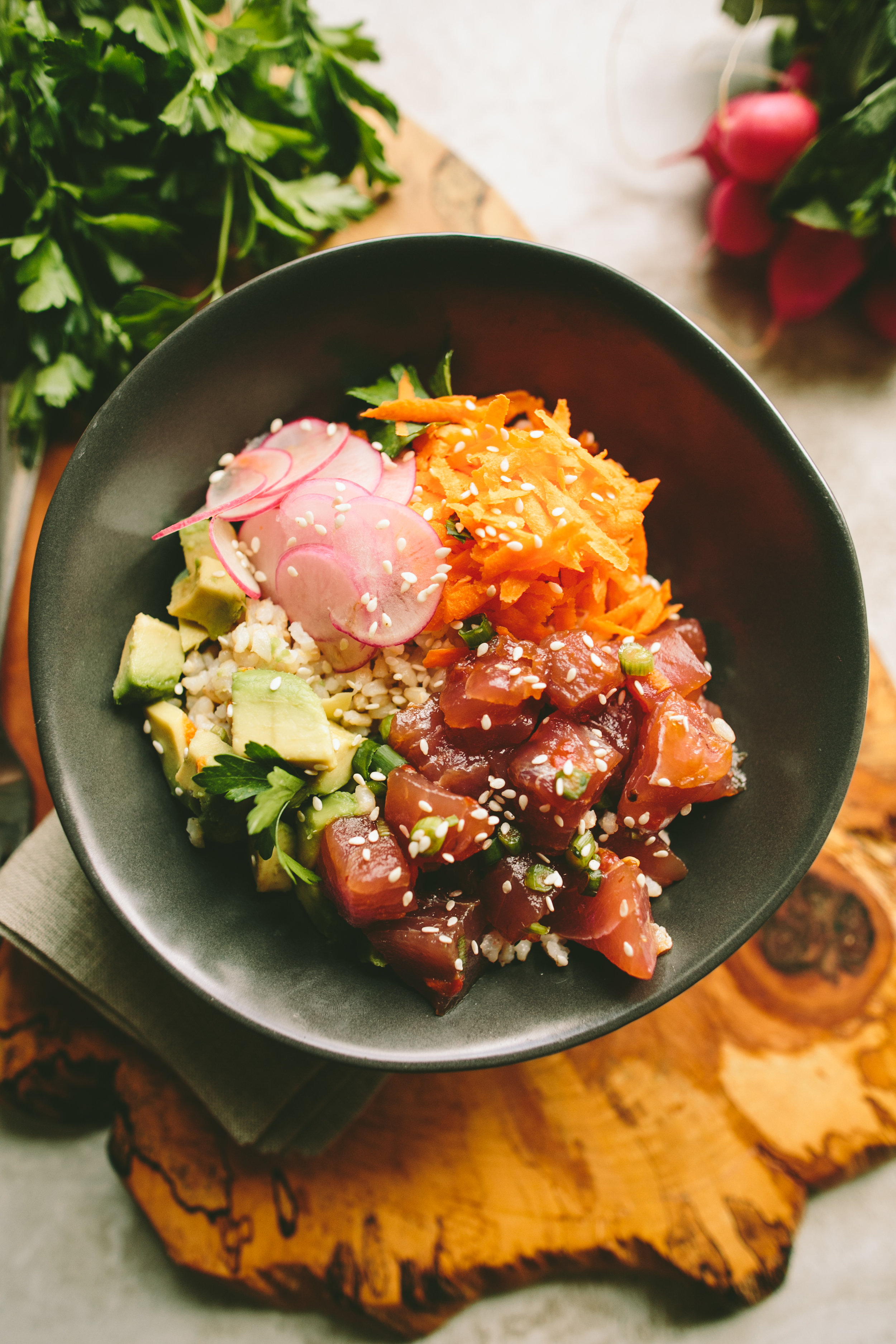 Ahi Tuna Poke Bowl - A Thought For Food
