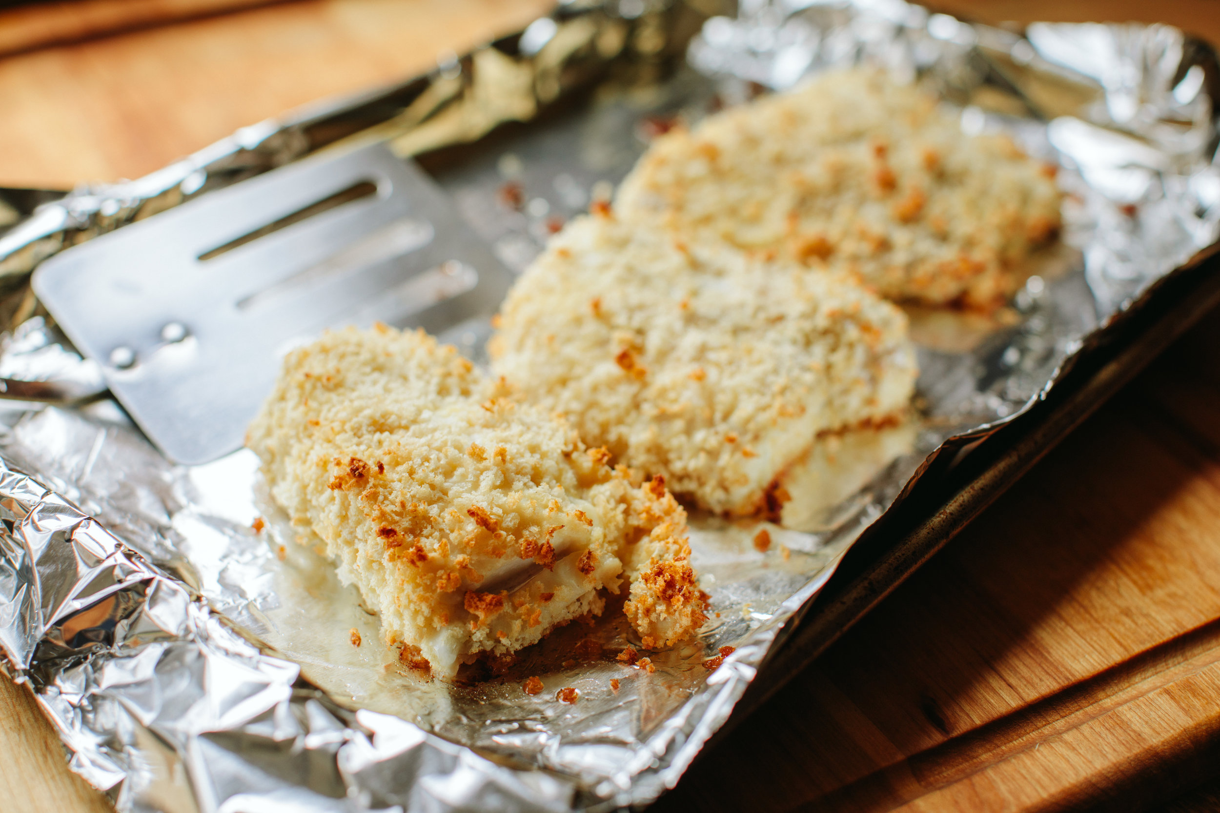 Baked Haddock Sandwich with Roasted Garlic Aioli - A Thought For Food