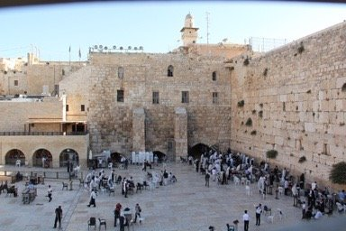 WAILING WALL - sometimes called the WESTERN WALL