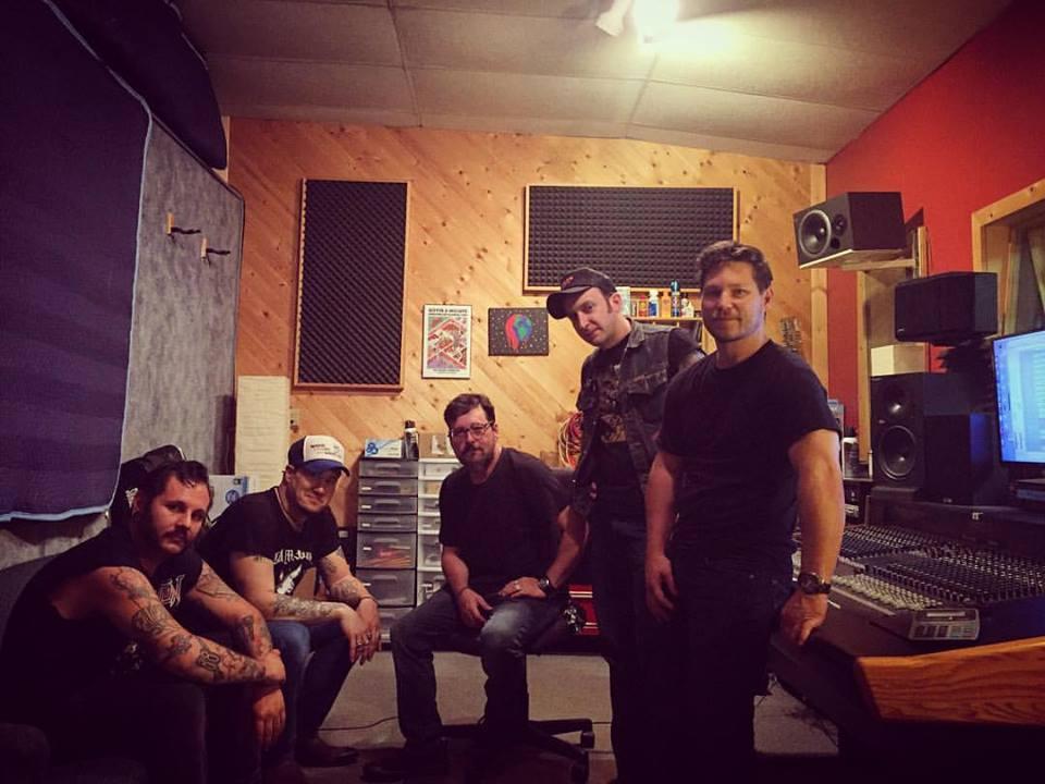 Sean K. Preston band in studio.