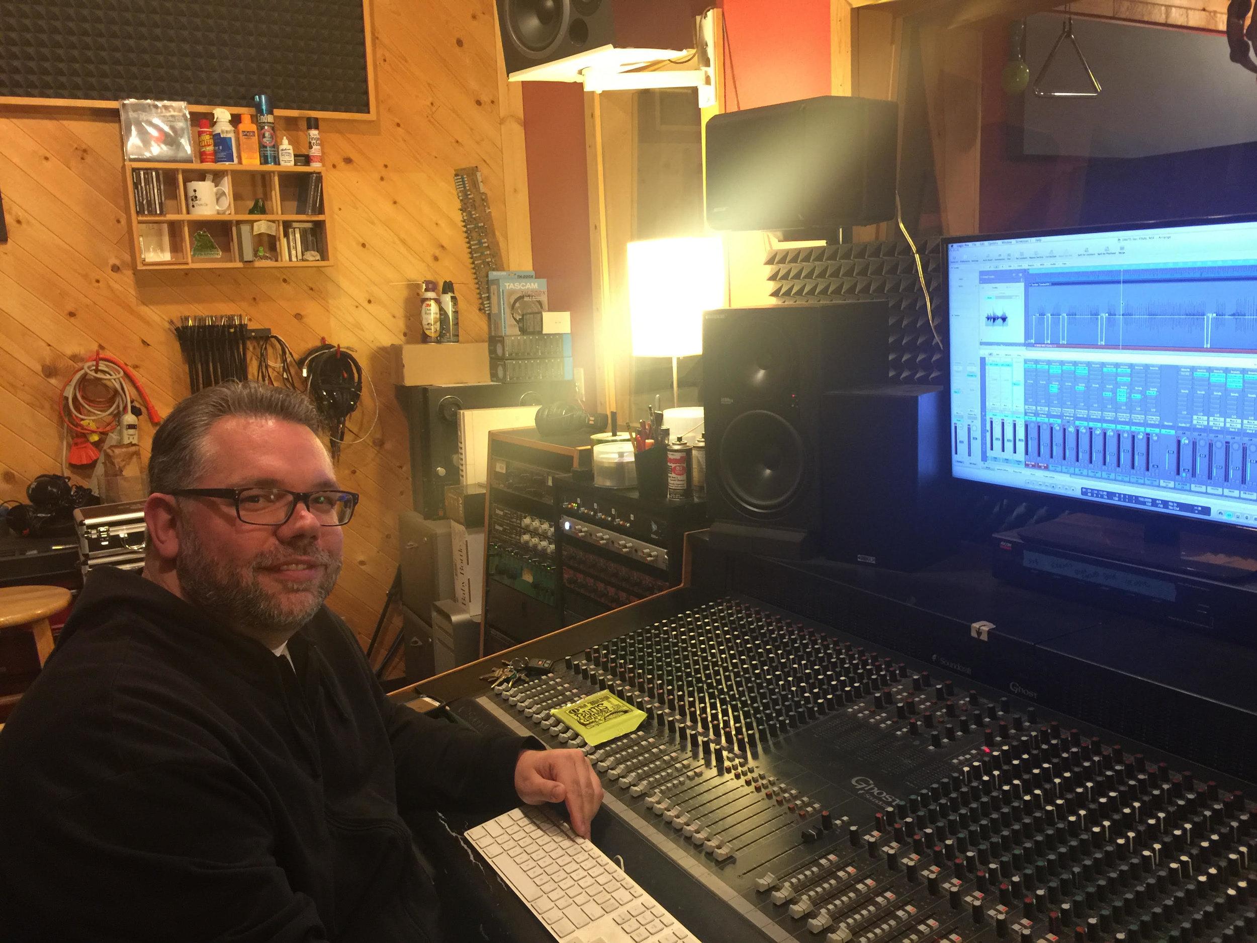 Ed Sertage, Engineer/Owner of Woodshed Studios, Oak Park, Michigan