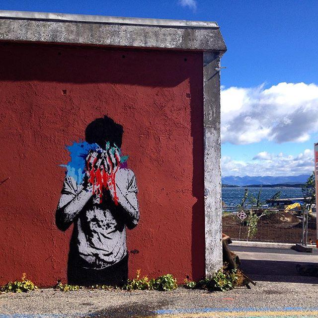 Nafir — Stavanger — NuArt 2015 #Nafir #nuartfestival #streetart #stencil #iran #norway #nuart @nuartfestival