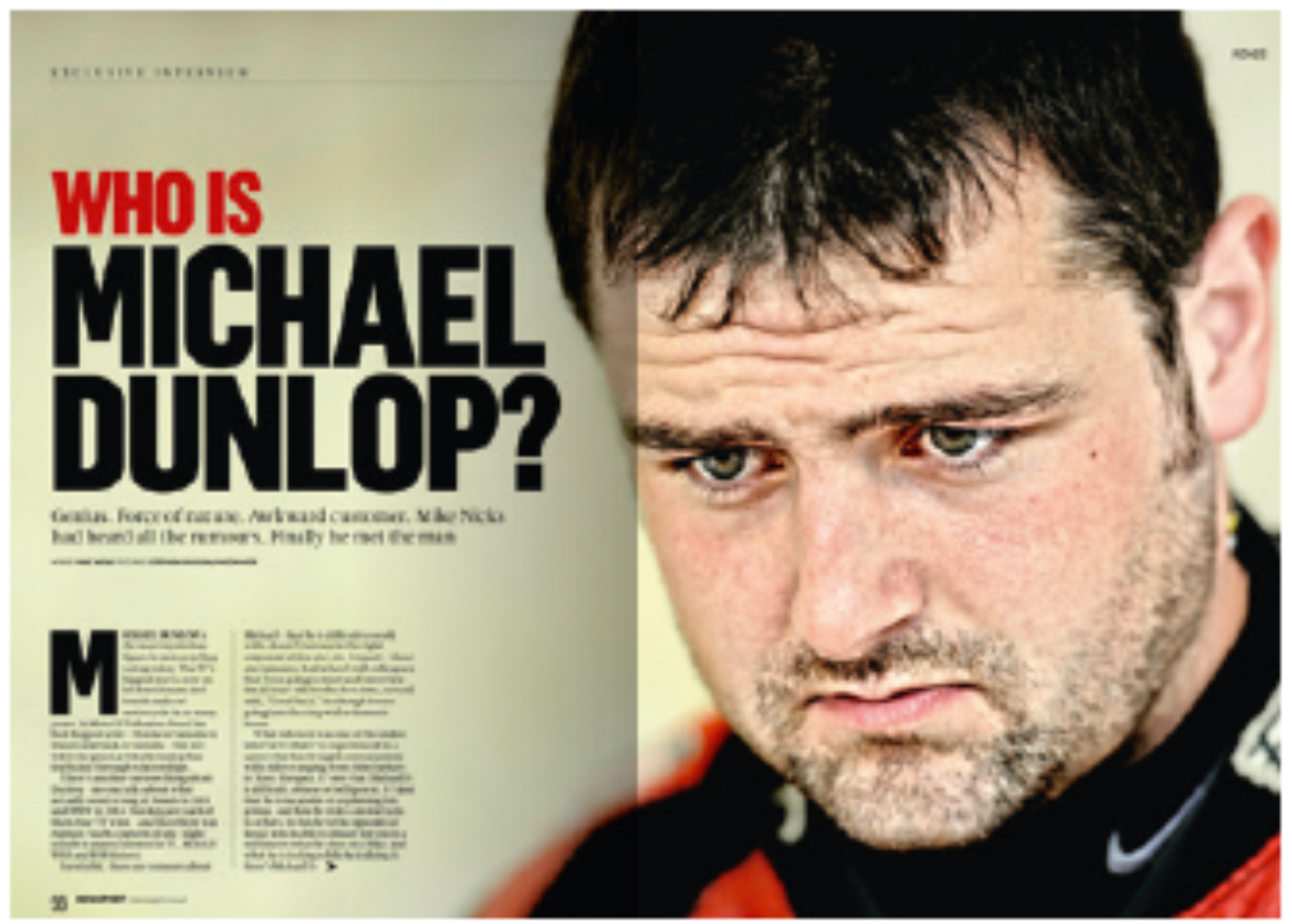 Who is Michael Dunlop?