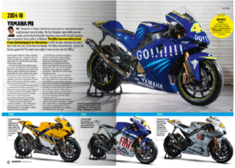 Rossi's GP winning bikes
