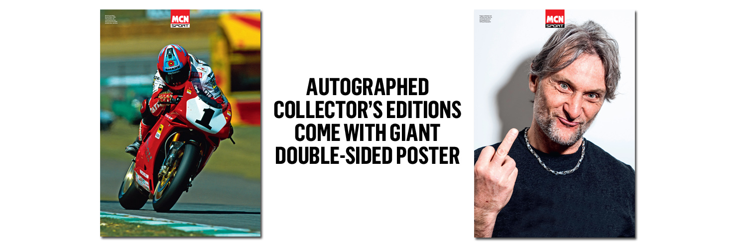 MCN Sport collector's edition includes double-sided Carl Fogarty poster