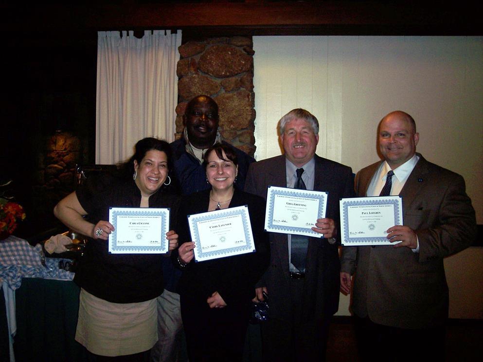 Carla Ciccone, James Ellis (Chicago), Cathy Lavendar (Alaska), Gregg Greening (Texas), Paul Lofgren (Maryland)