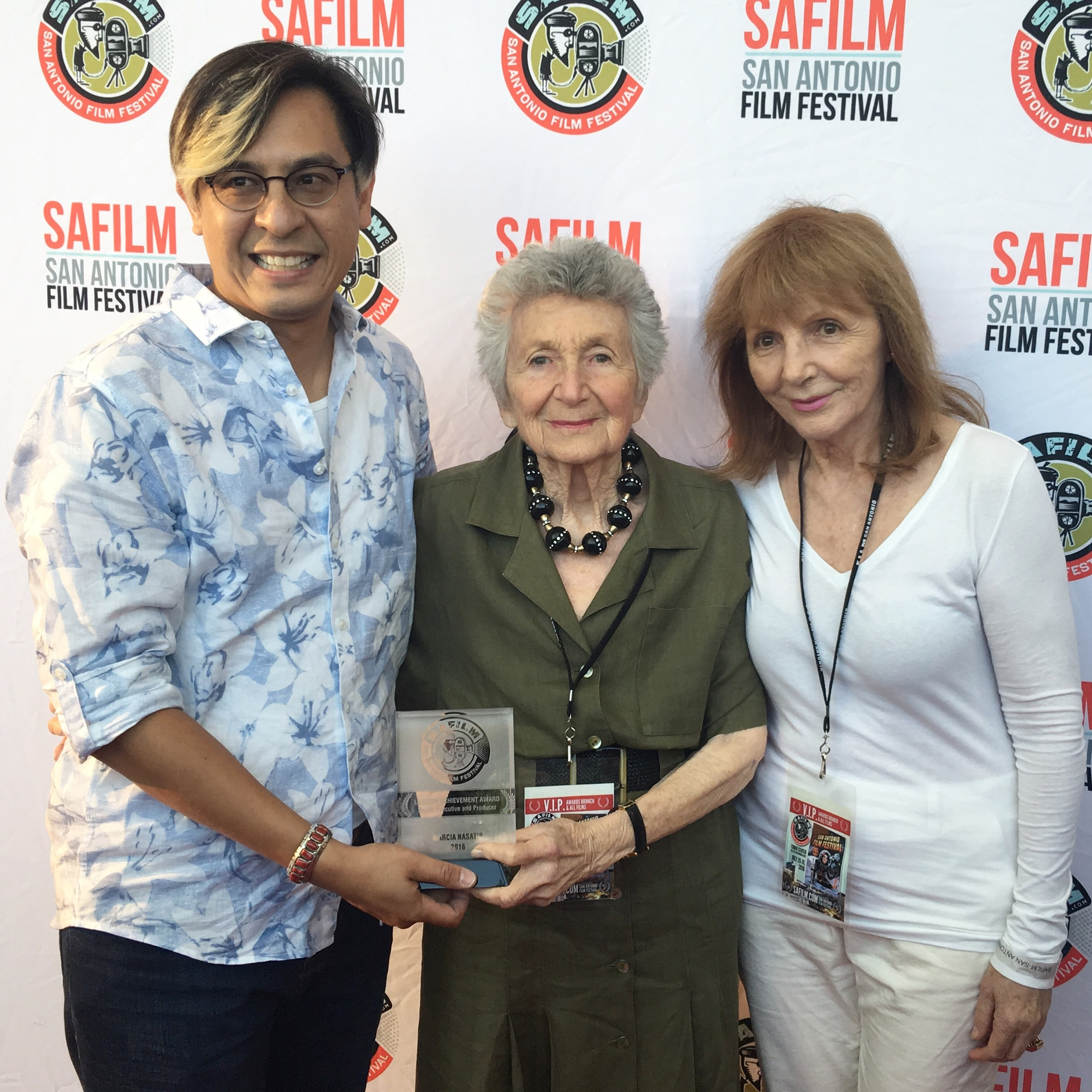Adam Rocha, Marcia Nasatir and Director Anne Goursaud