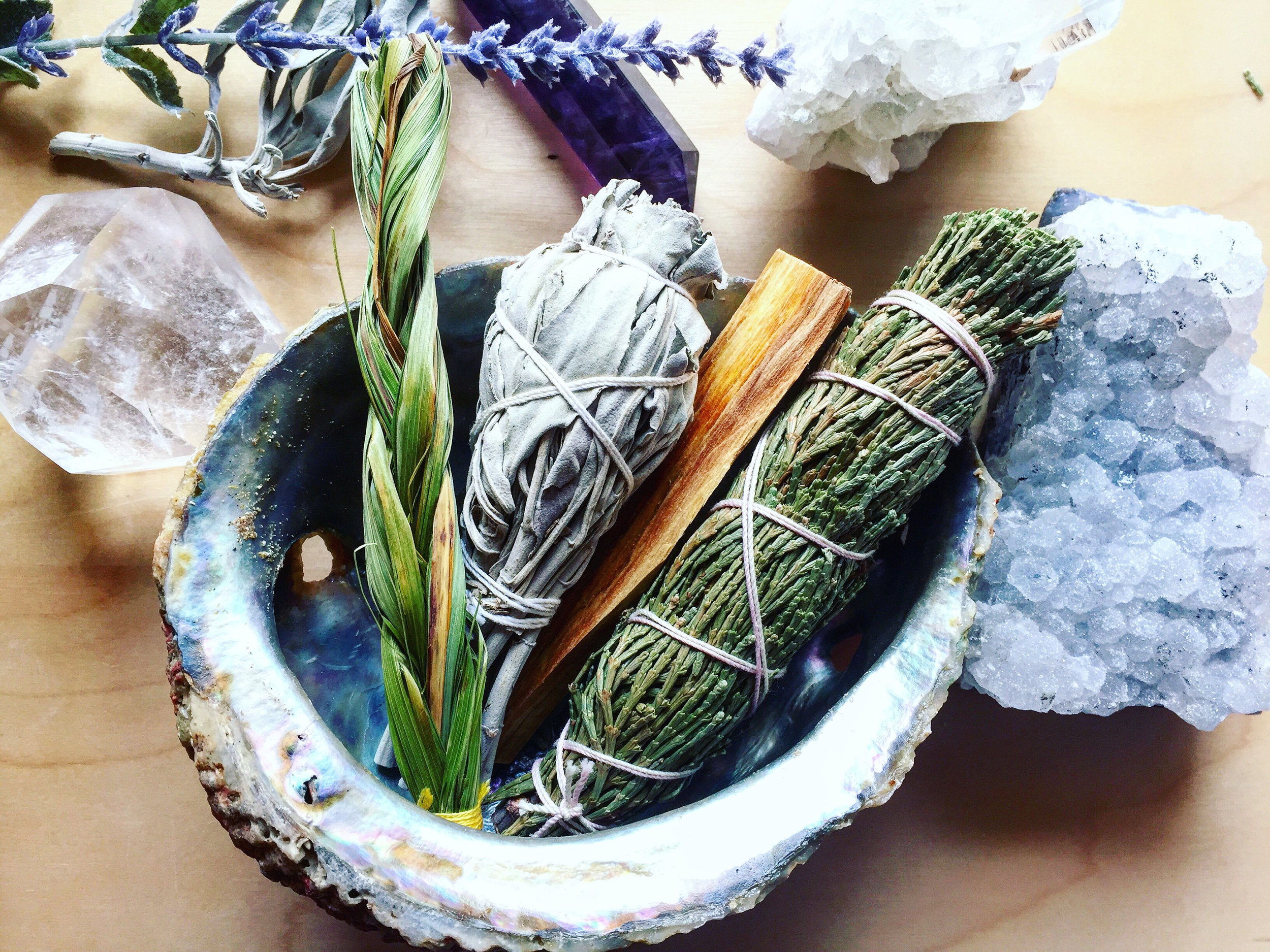 Cleanse your space...  Smudge kit by  ArkMade
