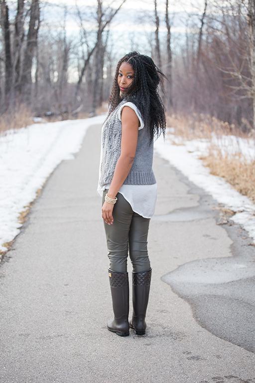 Calgary winter portrait style photography