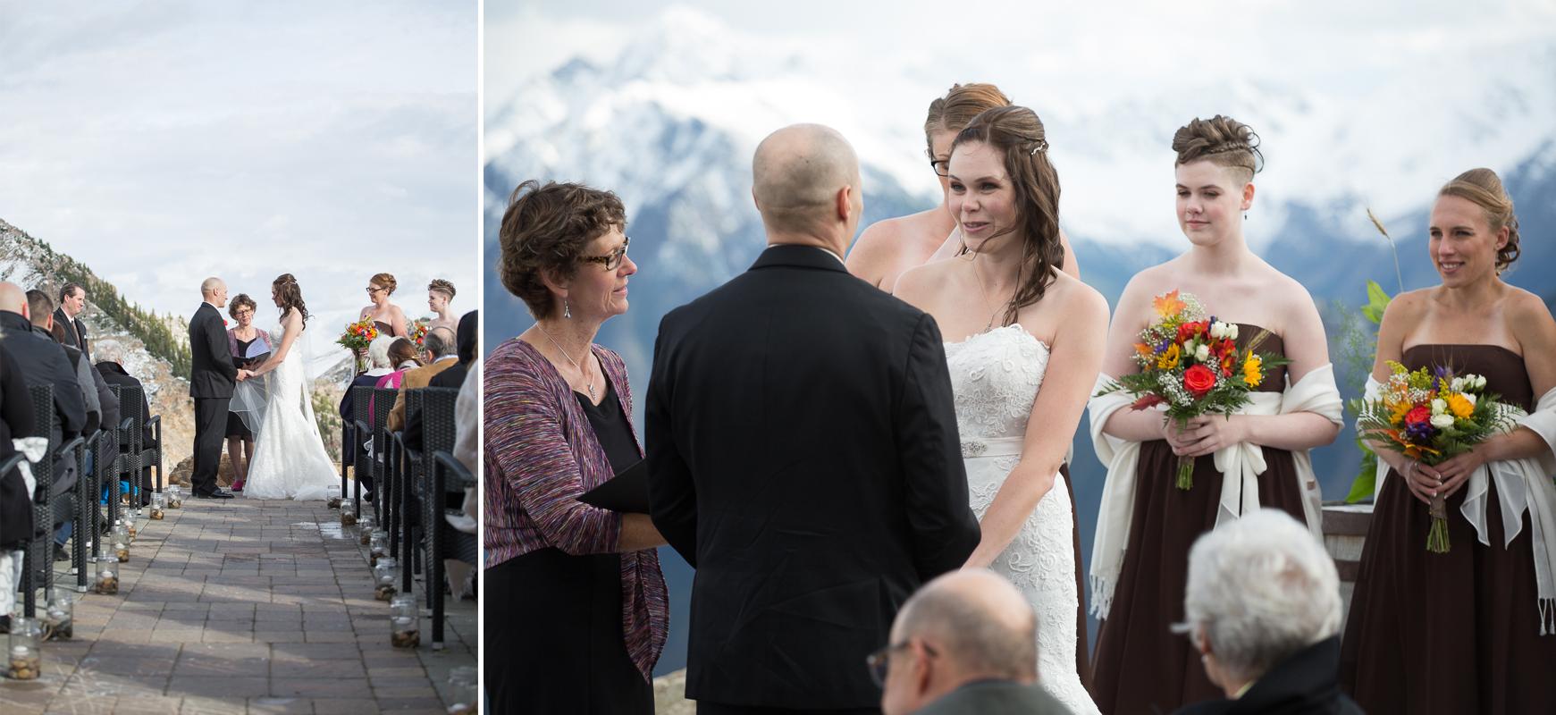 Kicking Horse Resort Wedding Photograph mountaintop ceremony