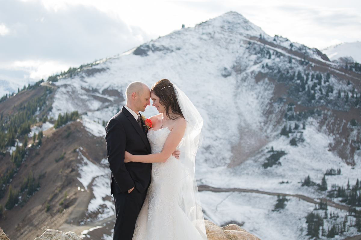 Rocky Mountain Wedding Photography at the top of Kicking Horse Resort