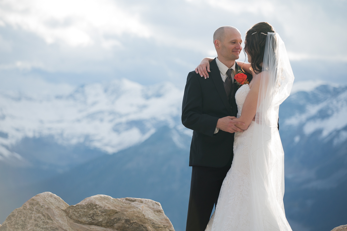 Mountain wedding at the top of Kicking Horse Resort in Golden, BC