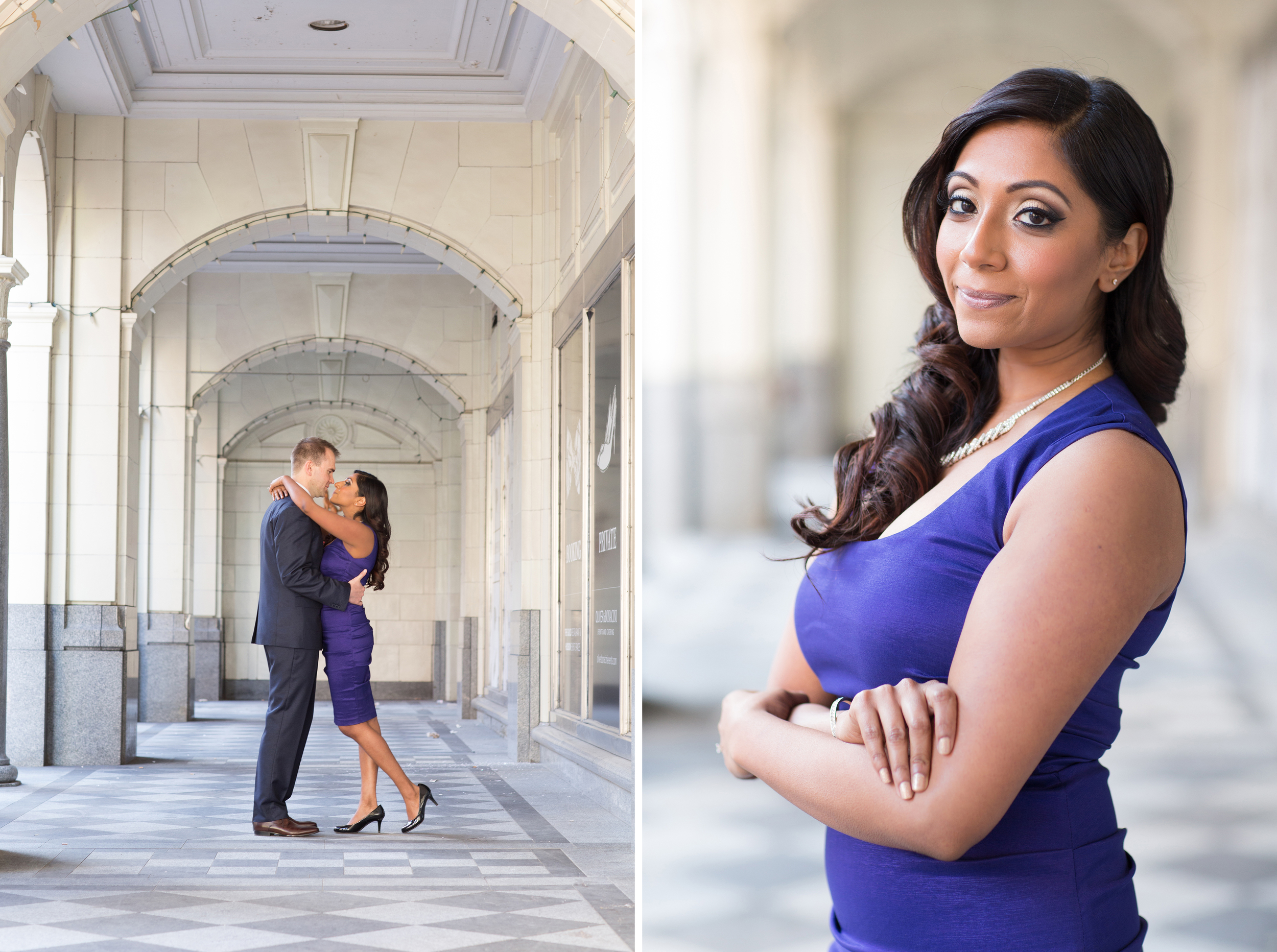 elegant downtown engagement session in Calgary