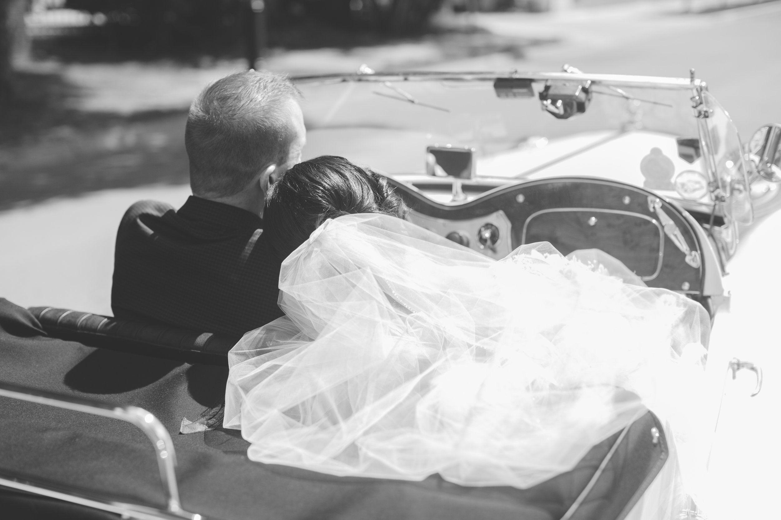 Vintage convertible wedding photography Calgary Alberta