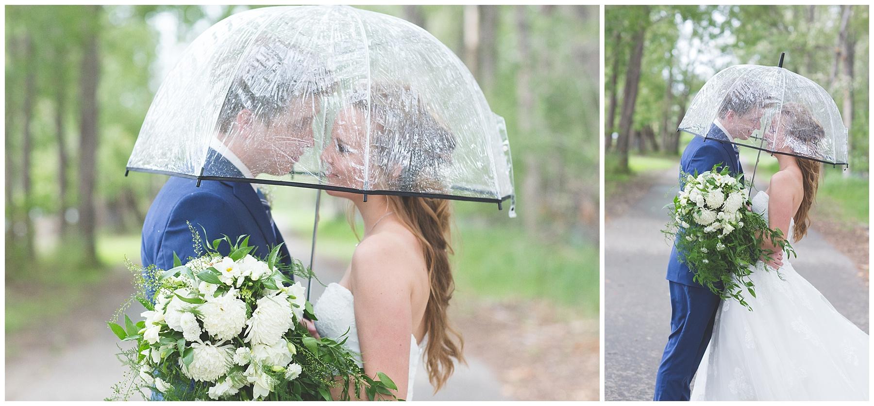 Umbrella wedding photography in Calgary Alberta