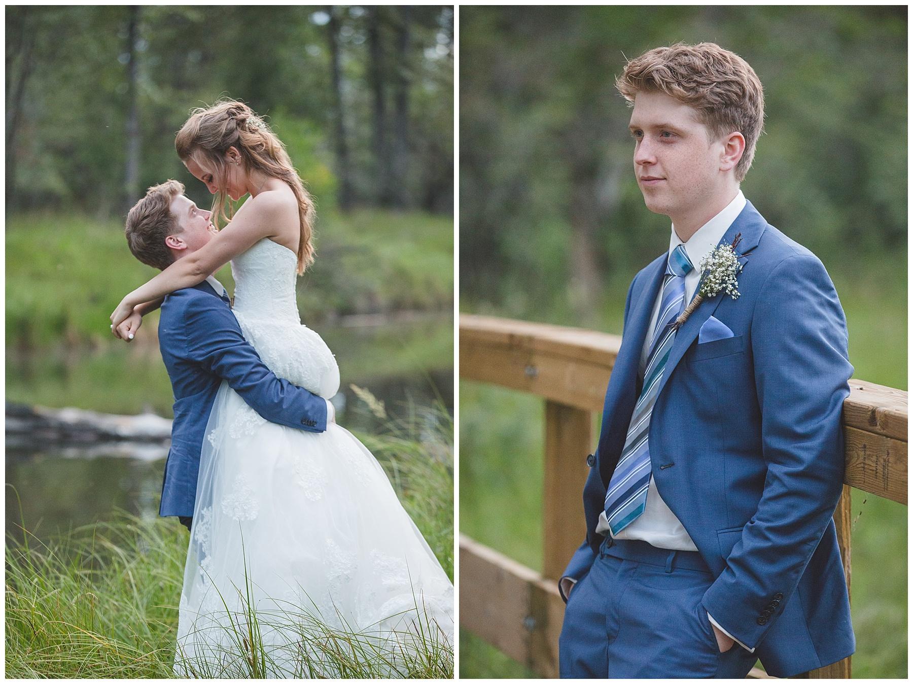 Evening wedding photograph in Calgary, Alberta