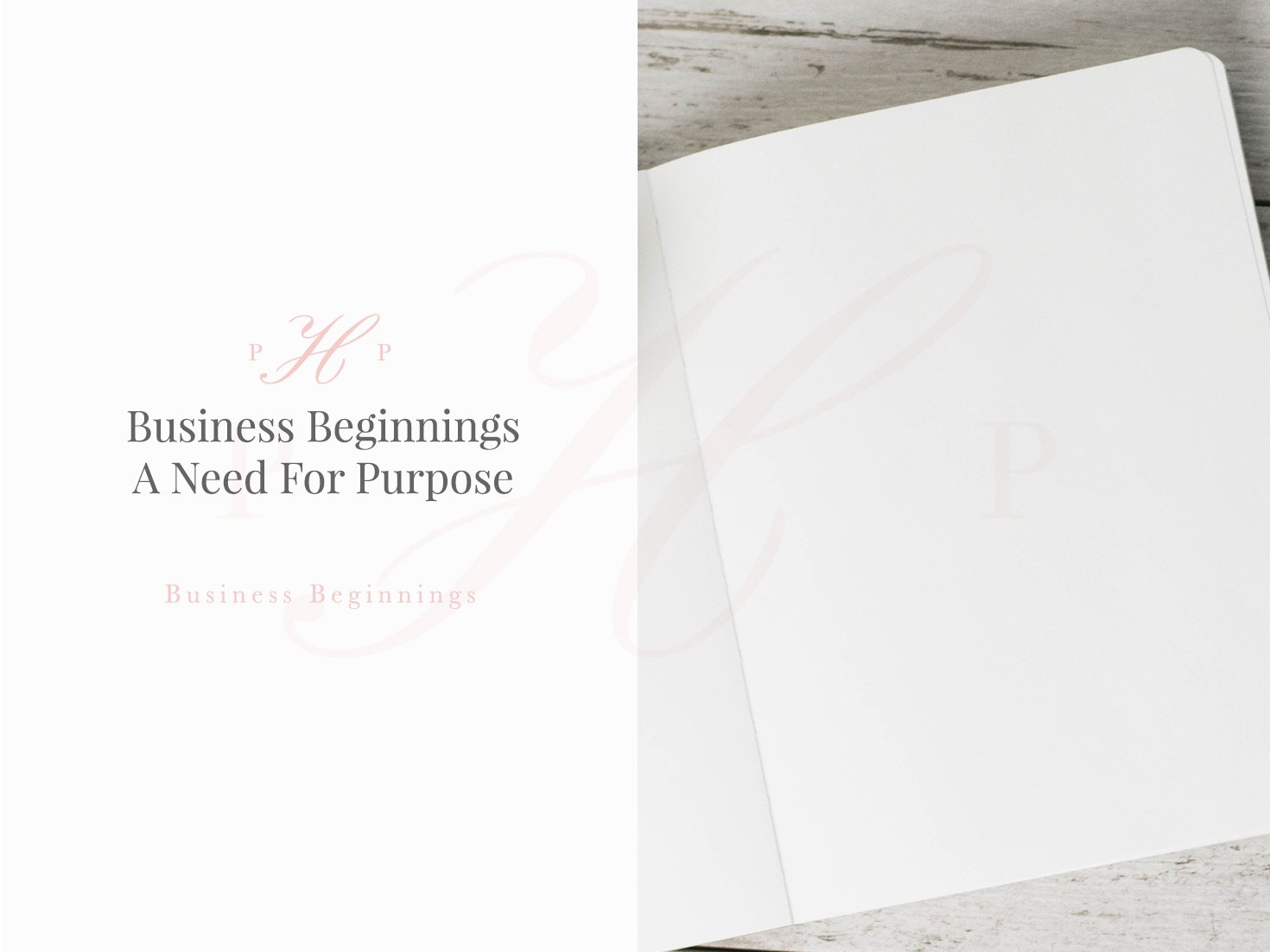 Business Beginnings - A Need For Purpose