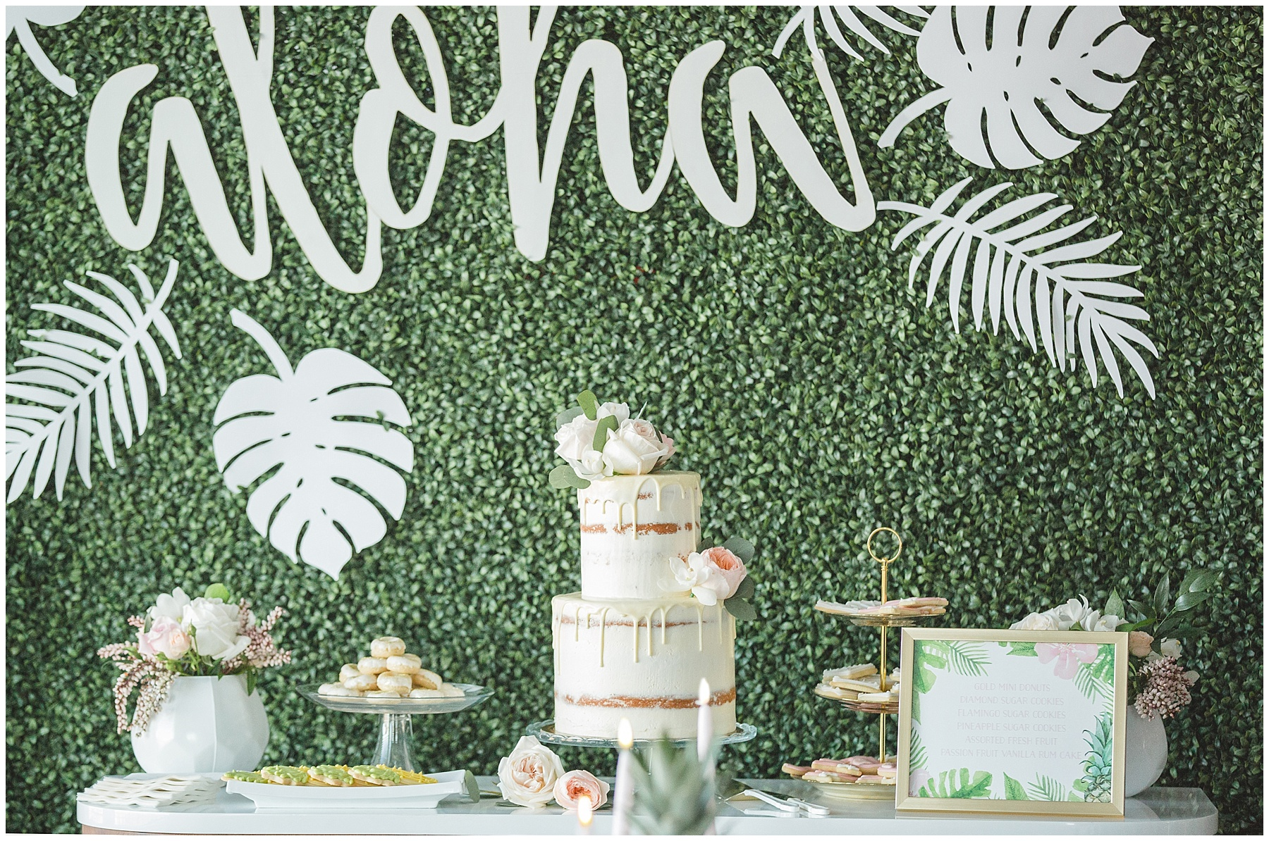 modern hawaiian bridal shower
