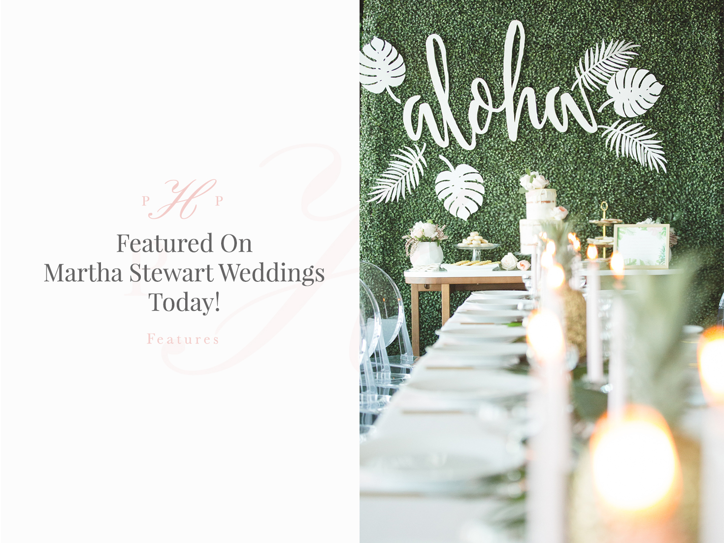 We're featured on Martha Stewart Weddings today!